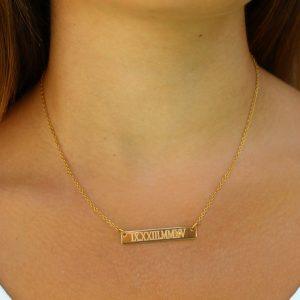 Engraved Necklace, Personalized Engraved Necklace