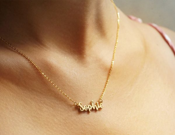 Nameplate Necklace NYC, Personalized Nameplate Necklace