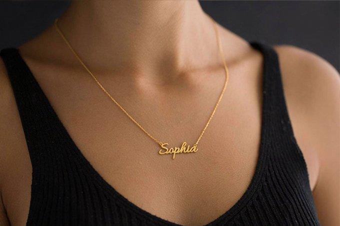 Mom Minimalist, Mom Minimalist Name Necklace, Customized Minimalist Necklace