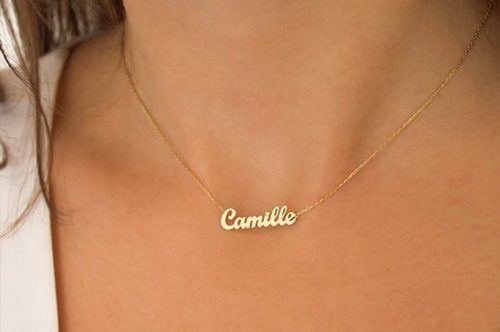 Initial necklace, Personalized Initial Necklace