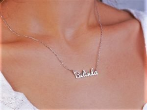 Sterling Silver Name Necklace, Customized Sterling Silver Name Jewelry